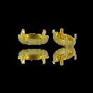 Opnaaikastjes setting 15mm goud ovaal