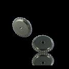 schijfjes 8mm oudzilver rond metaal gekarteld