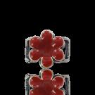 schuiver 17mm rood bloem