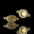 Metalen setting tussenzetsel matgoud voor flatbacks SS30 Swarovski