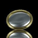 broches 70mm goud ovaal metaal