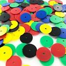 Pailletten rond plat 12mm mix