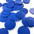 Pailletten rond plat 18mm blauw