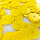 Pailletten rond plat 18mm geel