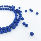 Glasparels 6mm parel kralen rond blauw