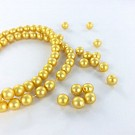 Glasparels 6mm parel kralen rond geel