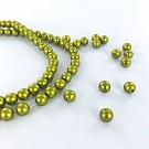 Glasparels 6mm parel kralen rond groen