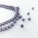 Glasparels 6mm parel kralen rond paars