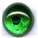 plakstenen 15mm groen rond glas