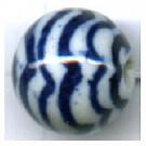 kralen 12mm blauw rond porselein kleurnummer