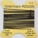 rijggaren zijde 0,7mm zwart rond garen