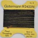 rijggaren zijde 0,8mm zwart rond garen