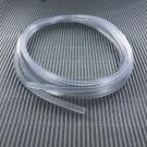 rijgsnoer 4mm wit vierkant rubber pvc crystal doorzichtig