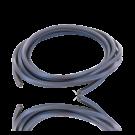 rijgsnoer 4mm vierkant rubber zacht paars lila