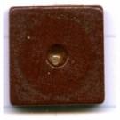 kralen 14mm bruin schijf vierkant hout kleurnummer 6083
