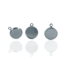 Setting kastje metaal 10mm zilver rond