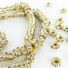 strassrondellen 4mm goud rond