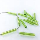 Glaskralen staafjes kralen 25mm groen