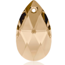 Swarovski pear shaped pendant 28mm Crystal Golden Shade