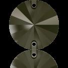 Swarovski Rivoli opnaaistenen rond 12mm Jet Nut
