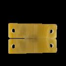 tussenzetsels 40mm bruin rechthoek