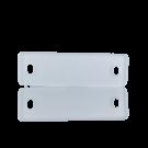 tussenzetsels 40mm wit rechthoek kunststof