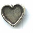 tussenzetsels 13mm oudzilver hartje