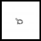 Veerringsluiting rond 9mm zilver