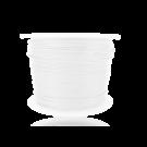 Waxkoord 0,5mm katoen wit rond