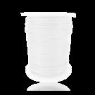 Waxkoord 1mm katoen wit rond