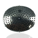 broches 45mm zilver rond metaal