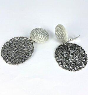 Inspiratie trendy oorbellen met filigrain oudzilver