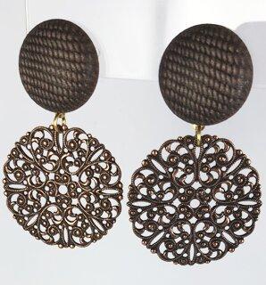 Inspiratie trendy oorbellen met filigrain brons